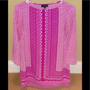 Vibrant Magenta Patterned Blouse